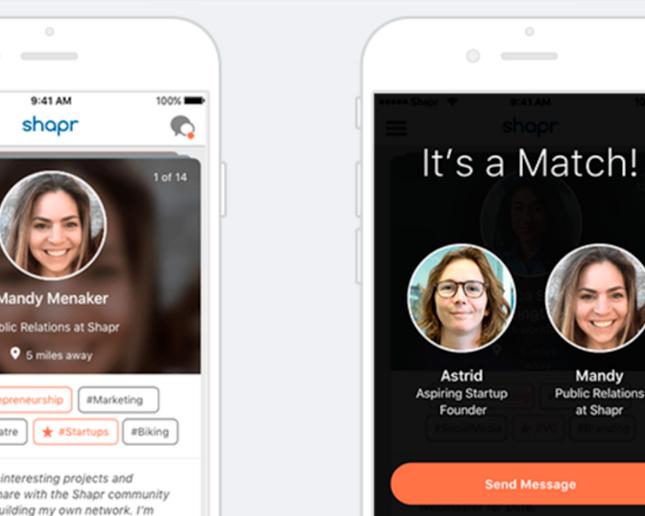 SHAPR, el Tinder del Networking